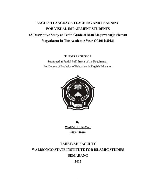 Contoh Proposal Penelitian Skripsi Yang Baik Dan Benar Pendidikan Dan Pengajaran
