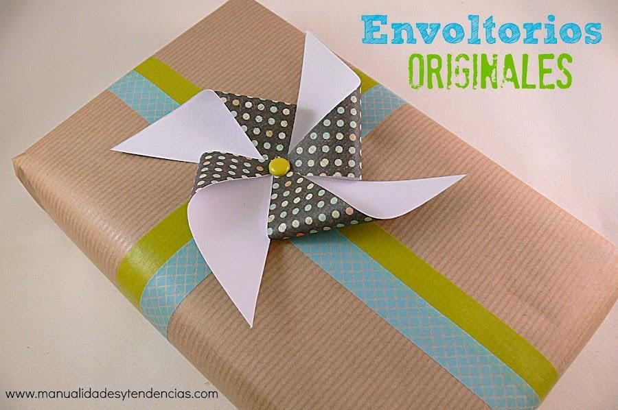 Cómo hacer un molinillo de viento para decorar un regalo