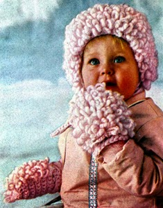 Loop stitch hat and mittens pattern free crochet patterns loops stitch