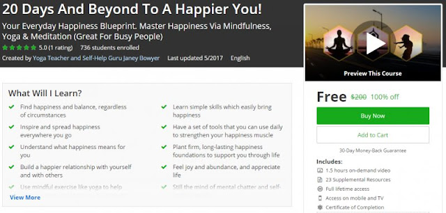 [100% Off] 20 Days And Beyond To A Happier You!|Worth 200$