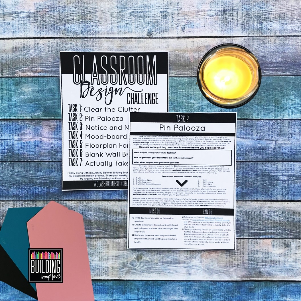 Classroom Design Challenge ~ Building book love classroom design challenge planning