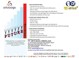 Info  Karir Lampung Terbaru di PT. ARTA BOGA CEMERLANG Bandar Lampung Maret 2018