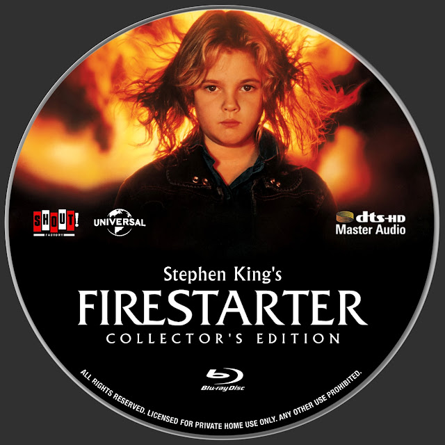 Firestarter Bluray Label