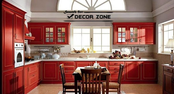 Tips For Kitchen Color Ideas: Red Kitchen Cabinets: 15 Ideas And Designs