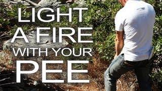Як запалити вогнище з допомогою... власної сечі