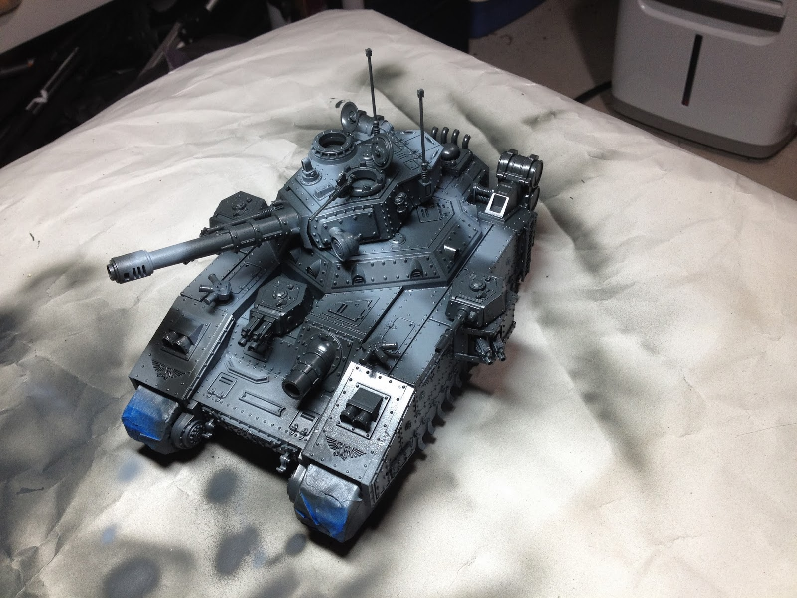 Death Korps of Krieg Baneblade WIP Left Side