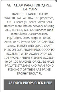 DUCK CLUBS, DUCK OUTFITTERS,
