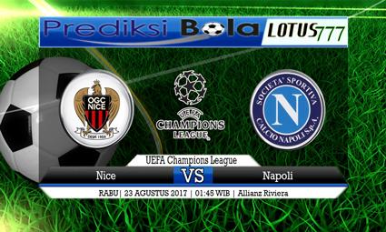 Prediksi Pertandingan antara Nice vs Napoli Tanggal 23 AGUSTUS 2017