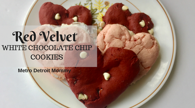 Create your own soft and chewy red velvet white chocolate chip cookies using this simple recipe!