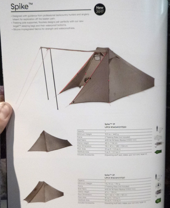 The new Nemo Spike 1-person and 2-person tents are floorless and trekking pole supported and weigh just 15.5 ounces and 26 ounces respectively. & Ultralight Insights -- Whatu0027s New and Exciting for Ultralight ...