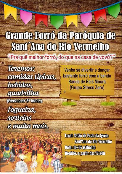 No sábado(10) vai rolar o Forró da Paróquia!