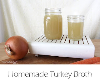 Homemade Turkey bone Broth stock