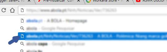 Como Remover uma Entrada dos URLs lembrados do Chrome da barra de URL
