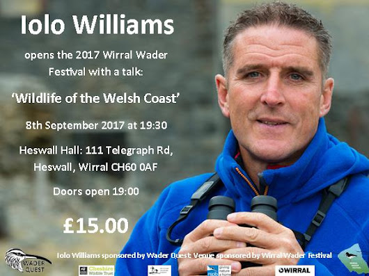 Come and see Iolo Williams at the Wirral Wader Festival
