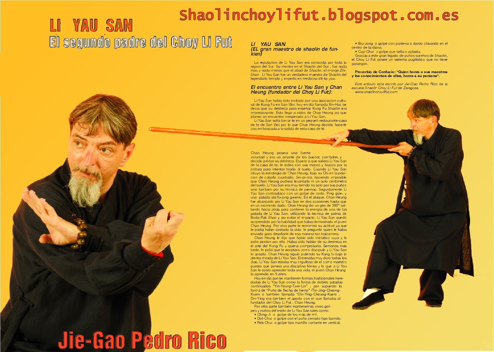 Li Yau San, el segundo padre del Choy Li Fut kung fu