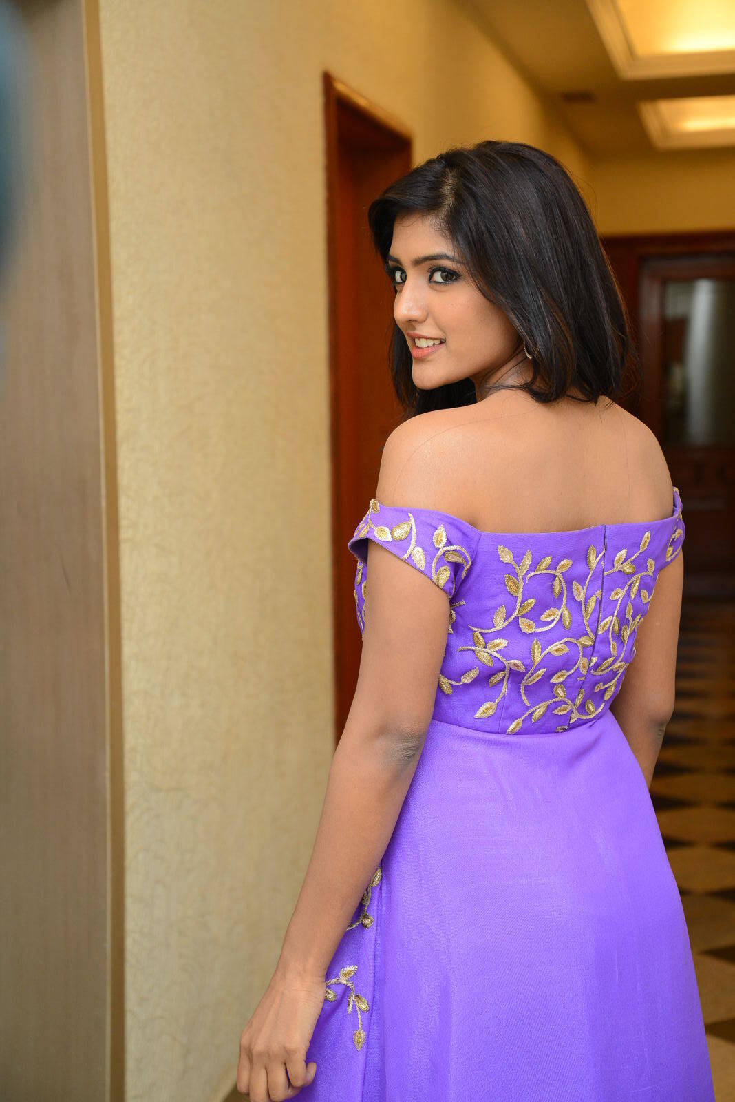 Glamorous Actress Eesha Photos In Purple Dress