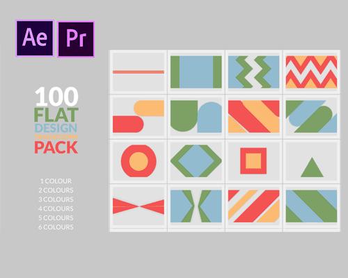 إنتقالات flat-design للموشن جرافيك للأفترافكتس وتستخدم في الأدوبي بريمير