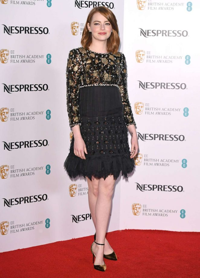 Emma Stone – BAFTA Nespresso Nominees' Party in London