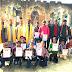 प्रश्नोतरी प्रतियोगिता में सफल छात्रों को मिला पुरस्कार