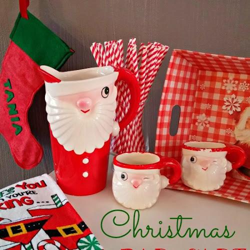 Christmas Decorating - A Christmas Decorated Bar Cart