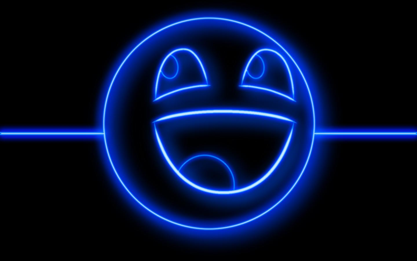 Neon Wallpapers for Android - Neon Smile Wallpaper