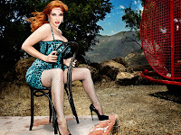 Actress Christina Hendricks hot legs and body