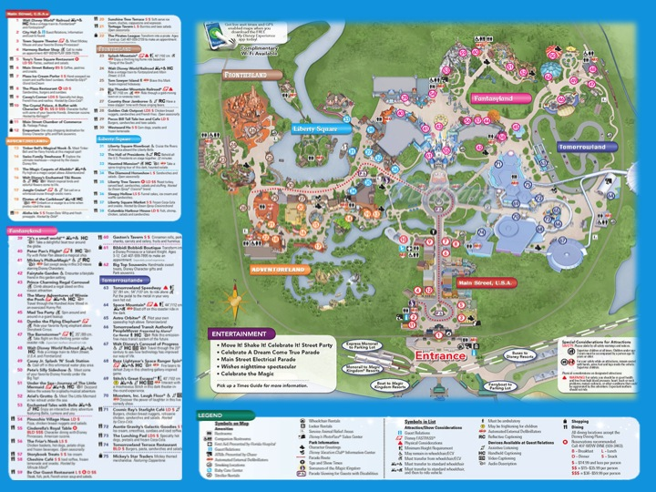 photo relating to Printable Magic Kingdom Maps called Magic kingdom map printable - Chattanooga tn trip