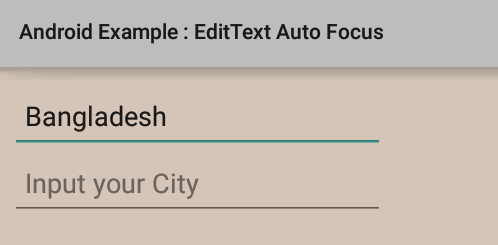 How to remove auto focus from EditText in Android