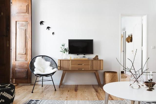 Noir blanc un style - Salon bois et blanc ...