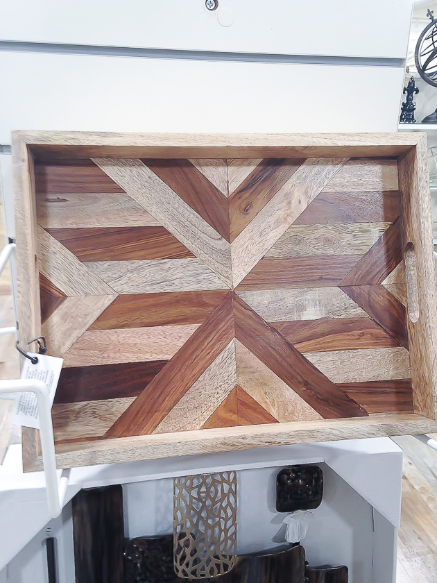 Wood serving tray, HomeGoods