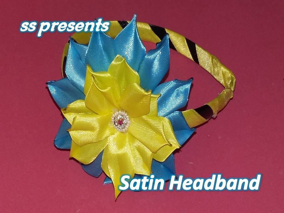 satin ribbon kids headband