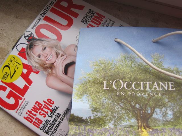L'Occitane od Glamour i pierwszy OPI w mojej kolekcji.