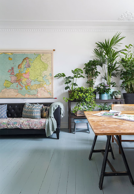 Green Color Palette Reigns in This Copenhagen Home- design addict mom