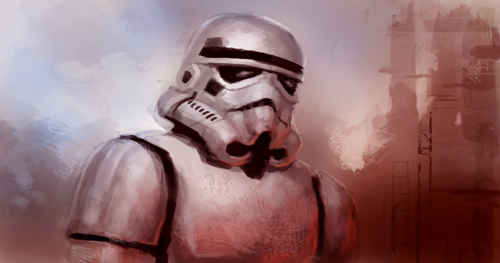 how to draw a stormtrooper blaster