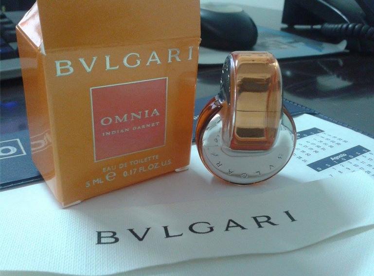 7e3763a4d40 Amostras Grátis Recebida Perfume BVLGARI Omnia Indian Garnet ...