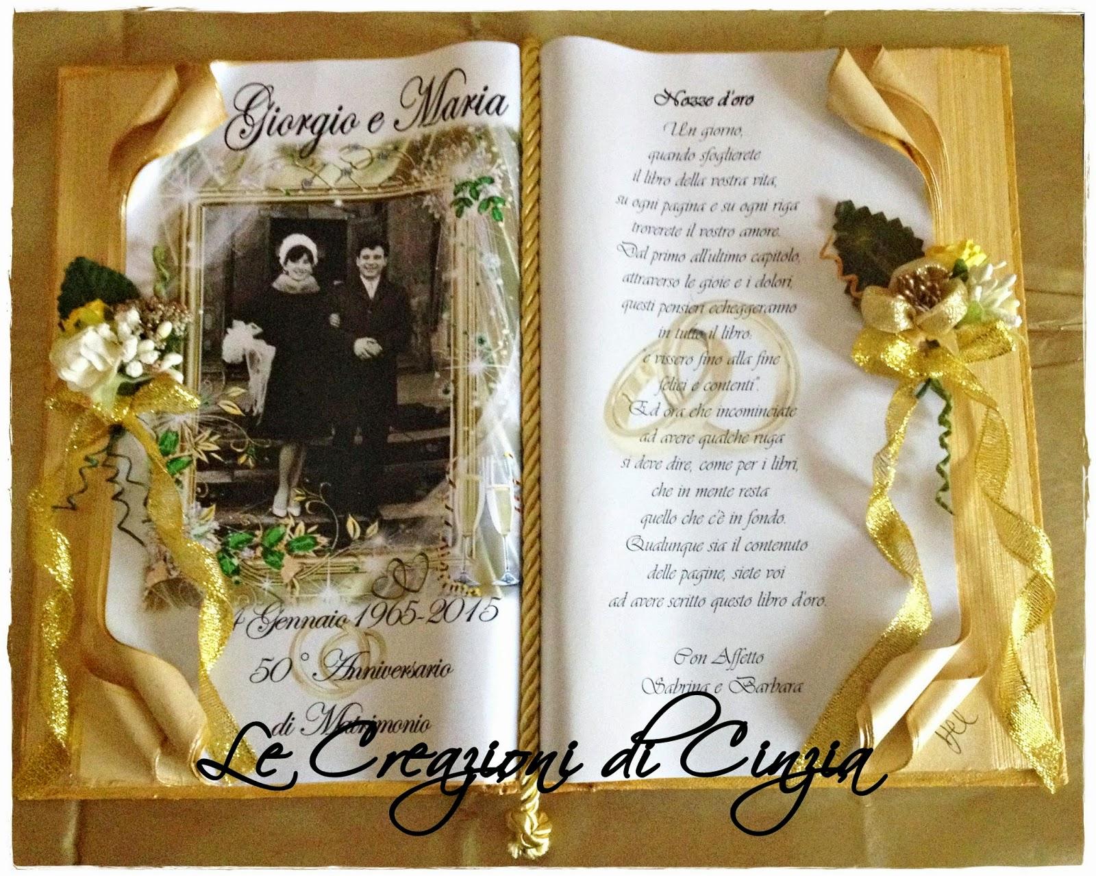 Tantissimi Auguri Matrimonio : Le creazioni di cinzia nozze d oro per giorgio e maria