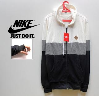 Distro Online Jaket Nike 3D Putih Abu Hitam Code 05
