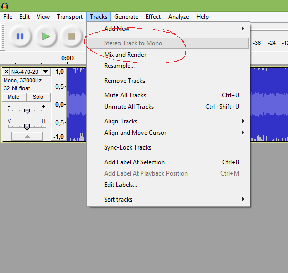 New Fresh Peace: Use Audacity to make wav files you can
