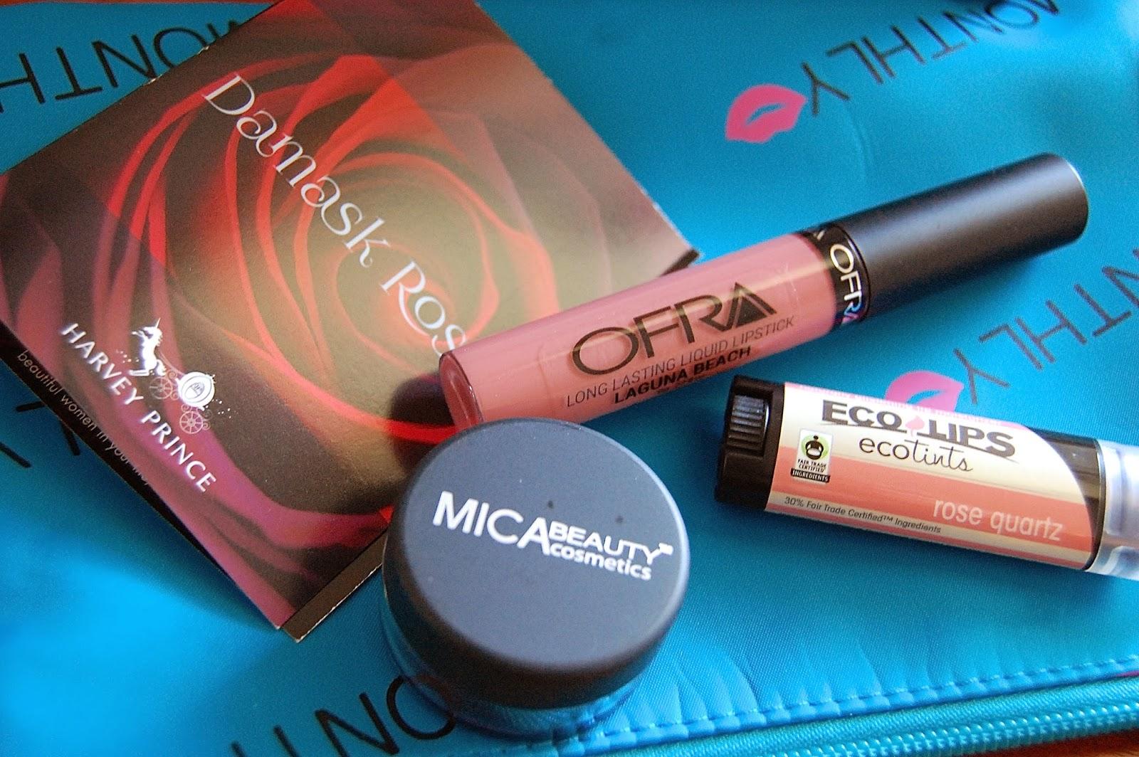 lip monthly, beauty subscription, beauty blog, lipstick, mica beauty, ofra, ecolips, make up, beauty box