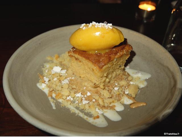 dessert Milk Cake, Restaurant Zoilo Londres