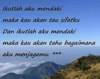 Kata Kata Bijak Pendaki Gunung Sejati/ Pecinta Alam