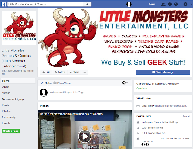 Little Monsters Entertainment LLC Facebook Page