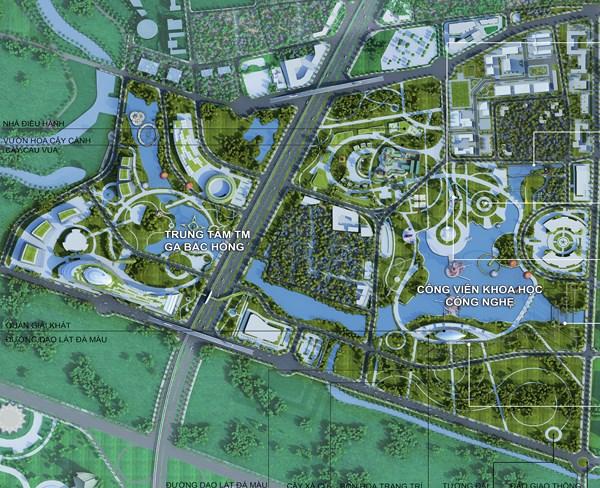 Quy hoạch khu đô thị trục Nhật Tân - Nội Bài đẹp như tranh vẽ