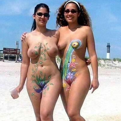 family naturists body art