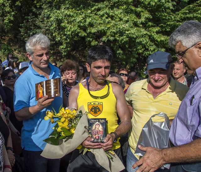 Ο τερματισμός του Πόντιου Υπερμαραθωνοδρόμου Γ. Ζαχαριάδη στην Ι.Μ. Παναγίας Γουμερά (Video)