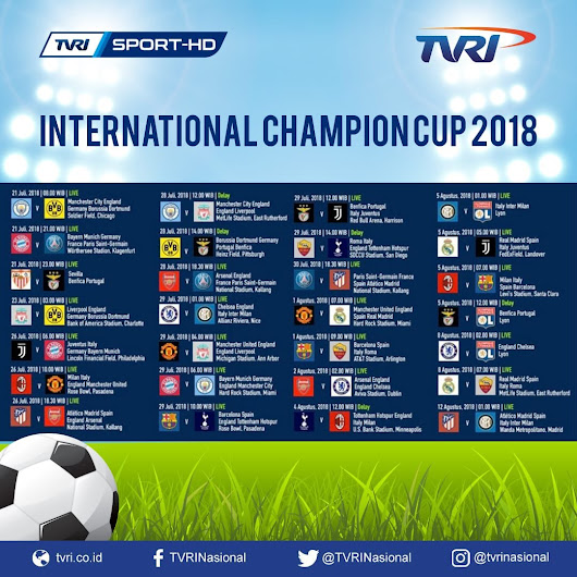 Nonton INTERNATIONAL CHAMPION CUP Di Channel TVRI