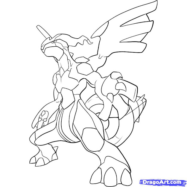 Pokemon Zekrom Colouri With Pokemon Coloring Pages Black And White Zekrom