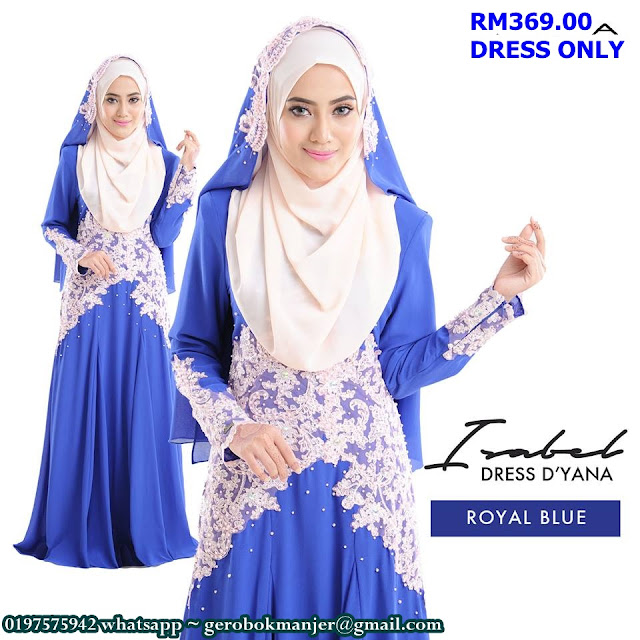 DRESS CHIFFON LACE ISABEL BY DYANA