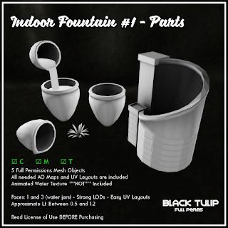 Mesh - Indoor Fountain #1 - Parts