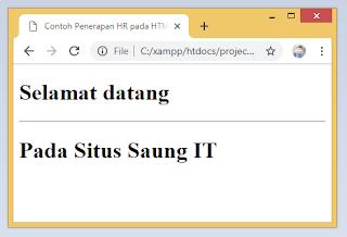 Cara Membuat HR Pada HTML